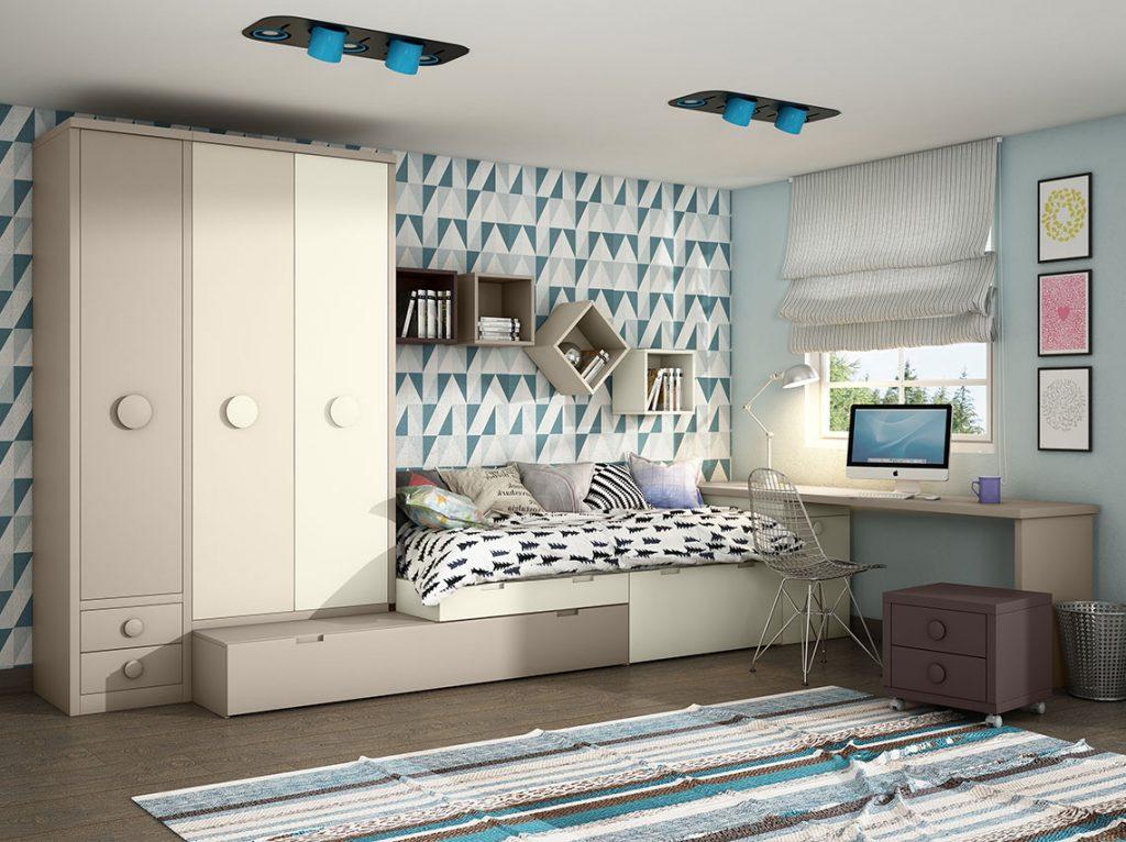 Dormitorios juveniles contempor neos mdm interiorismo for Dormitorios contemporaneos