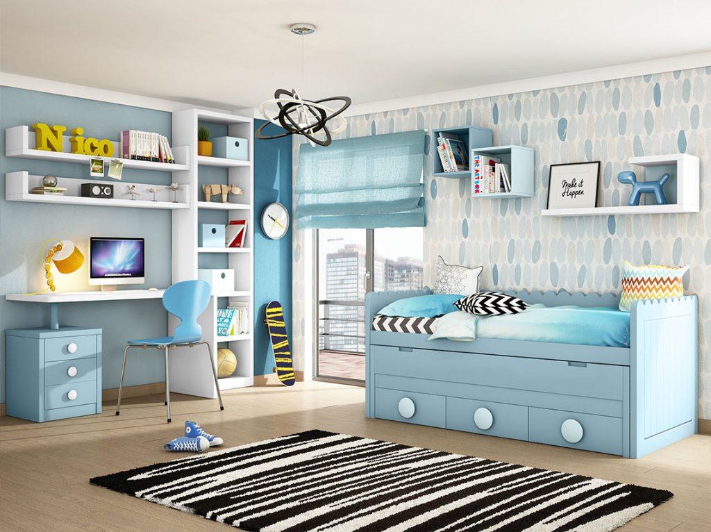 Dormitorio juvenil contemporáneo 22