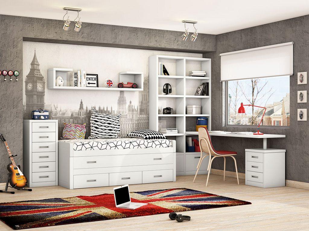 Dormitorio juvenil contemporáneo 21