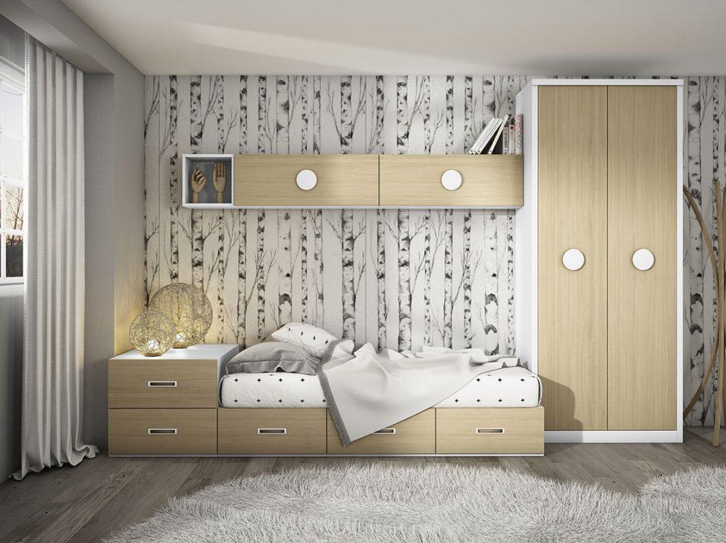 Dormitorio juvenil contemporáneo 2
