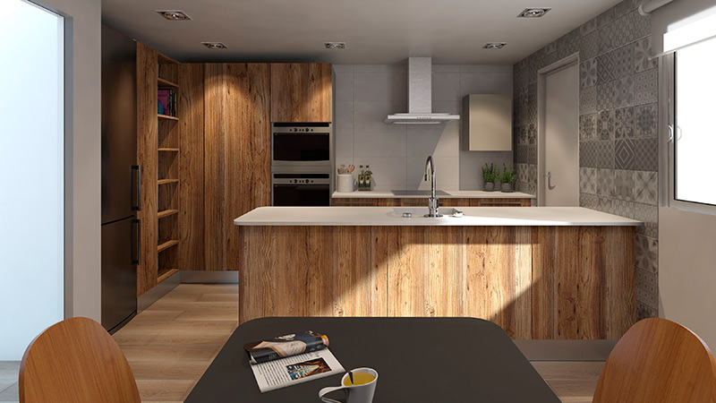 reforma cocina 3d