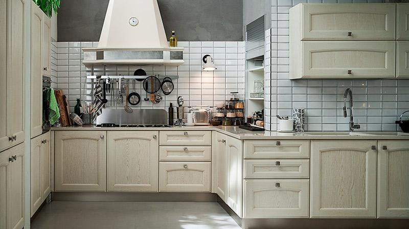 Cocinas rústicas blancas